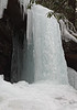 Frozen waterfall formed by run-off