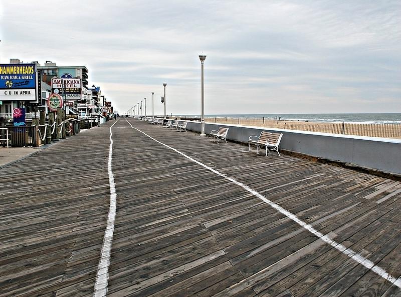 Ocean City, Maryland boardwalk in the winter