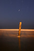 Long night exposure of the shoreline (six minute exposure)