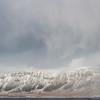 Blizzard Sweeping Over Kollafjordur