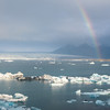 Rainbow over Jökulsárlón