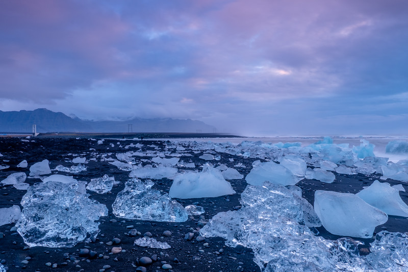 The Ice Beach at Dawn
