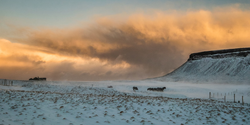 Oncoming Blizzard at Sunrise