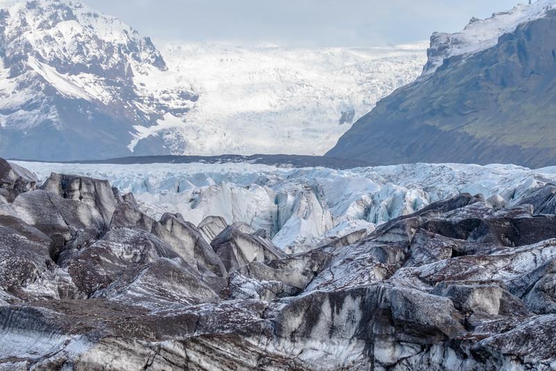Serracs on Svínafellsjökull Glacier