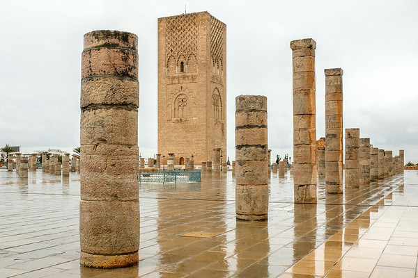 The Hassan II Tower, Rabat