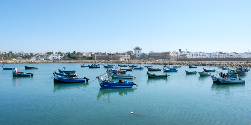Boats in Asilah Harbour