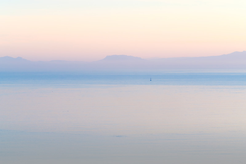 Spain from Tangier before Sunrise