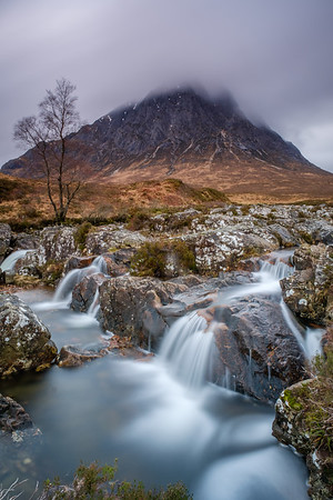 Waterfall in Glen Etive