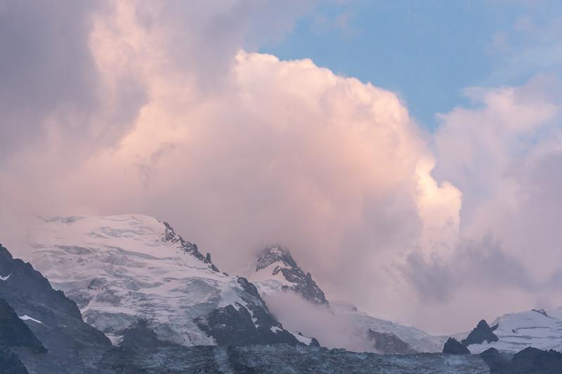 Sunset Over Mont Blanc Massif