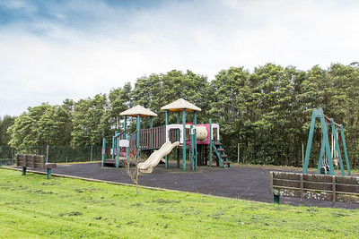 Salvaged from the nearby US Air Force base, the camp playground is a great addition for younger guests