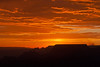 A dramatic sunset at the South Rim of the Grand Canyon, Arizona