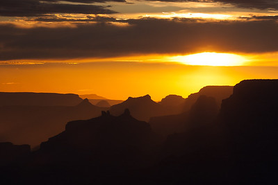 Sunset at the South Rim of the Grand Canyon, Arizona