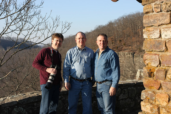 David, Ronnie, and James on top of White Rock Mountain in the Ozark Mountains.