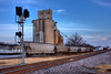 This shot of the Bryant Grain Company in Aledo, Texas, was taken on January 4, 2009.  The shot is a High-Dynamic-Range (HDR) Image made by combining three different exposures of the same scene.