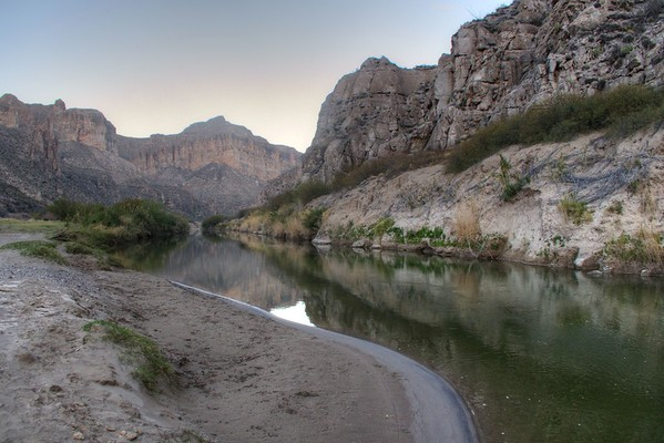 Sierra Del Carmen Mountains and the Rio Grande River - Big Bend National Park - Texas