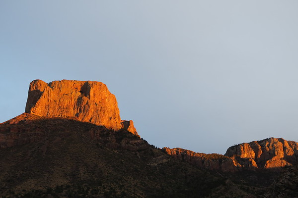 Casa Grande - as seen from Chisos Basin Campground