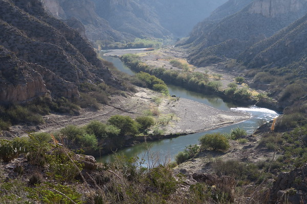Surveying the Rio Grande from the Marufo Vega Loop Trail - Big Bend National Park - Texas