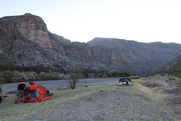 Camping along the Rio Grande - Big Bend National Park - Texas