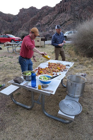 Shrimp Boil - Chisos Canyon Campground