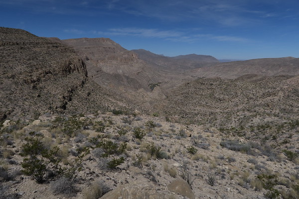 First view of the Rio Grande River from the Marufo Vega Loop Trail - Big Bend National Park