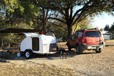 Home Sweet Home for a couple of nights at Lake Whitney State Park in Texas.
