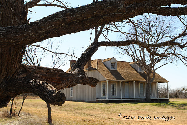 Officers Quarters at Fort Richardson - 1867 - Colonel Ranald Mackenzie lived here in 1871 when, under orders from General William T. Sherman, offensive measures were taken to return raiding Indians who had left their reservation near Fort Sill, north of the Red River.