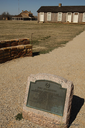 Information on this plaque recounts the history of Fort Richardson during the Indian Wars but does not mention its original role during the imposed martial law of Reconstruction.