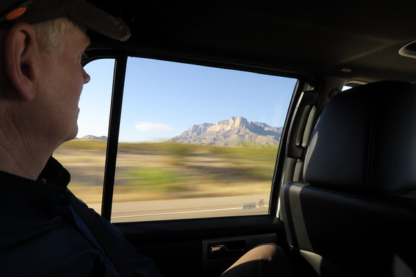 Greg observes geologic time from a speeding vehicle.