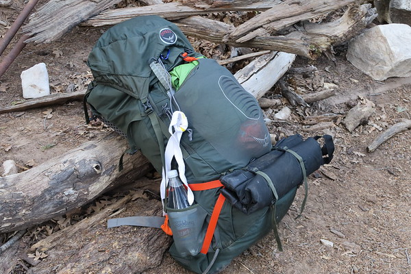 Love the new backpack!  Forty-four pounds heading into the backcountry.  Guadalupe Mountains National Park, Texas
