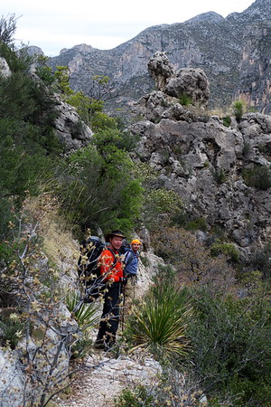 """Approaching the """"turtle rock.""""  McKittrick Canyon - Guadalupe Mountains National Park, Texas"""