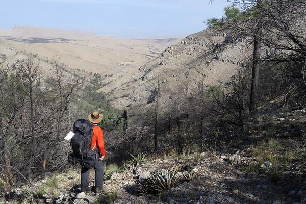 Jim surveys the west Texas landscape. Guadalupe Mountains National Park, Texas