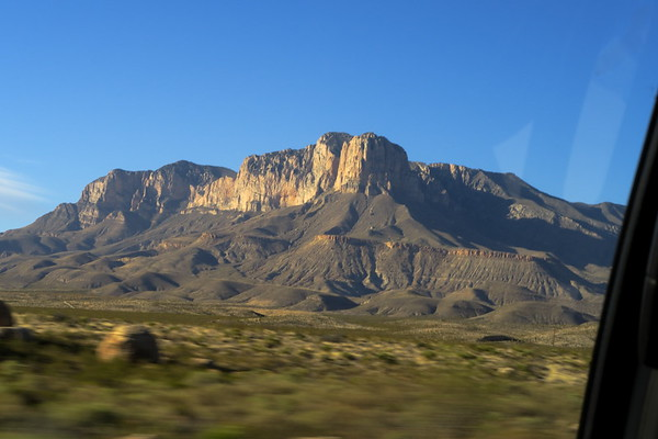 El Capitan - a Permian period reef above the Chihuahuan Desert in far west Texas.