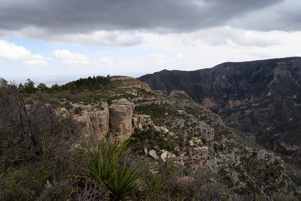 Storm clouds looming over McKittrick Canyon - Guadalupe Mountains National Park, Texas