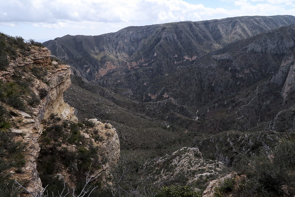 From above McKittrick Canyon - Guadalupe Mountains National Park, Texas