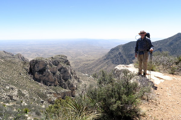 Greg takes it all in.  Guadalupe Mountains National Park, Texas