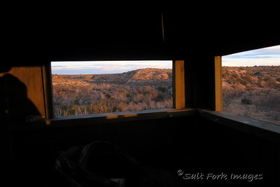 The view looking north from a deer blind at Salt Fork Ranch