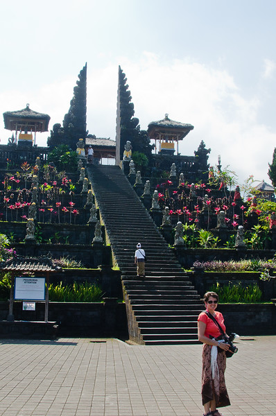 The stairs at Basakih Mother Temple