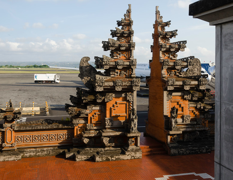 Even the airport on Bali has the feel of a temple!