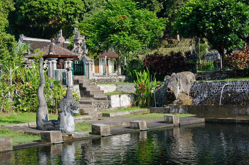 Entrance to the royal swimming pool at Tirta Ganga Water Palace