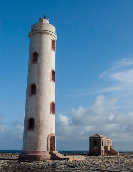 Automated lighthouse and abandoned keepers house