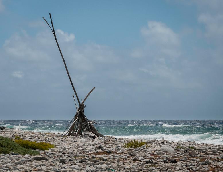 Beach Sculpture near Lac Bay