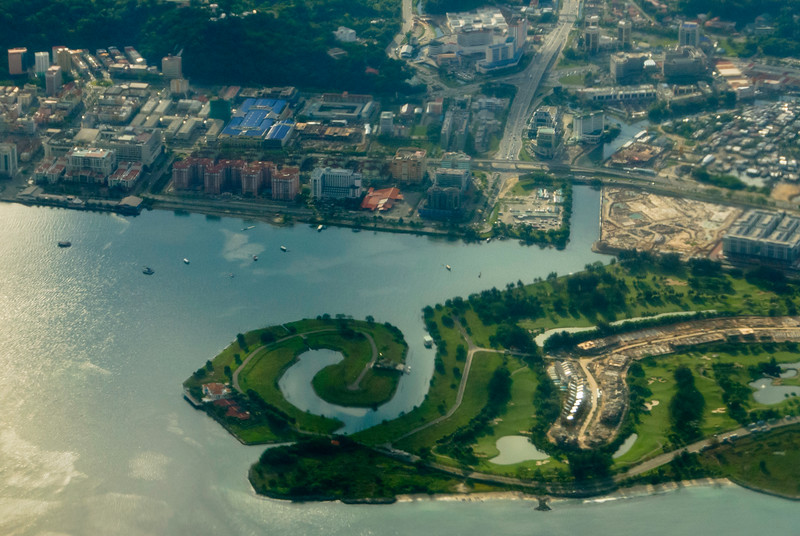 Aerial View of our Hotel in Kota Kinabalu
