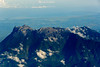 Mount Kinabalu from the airplane