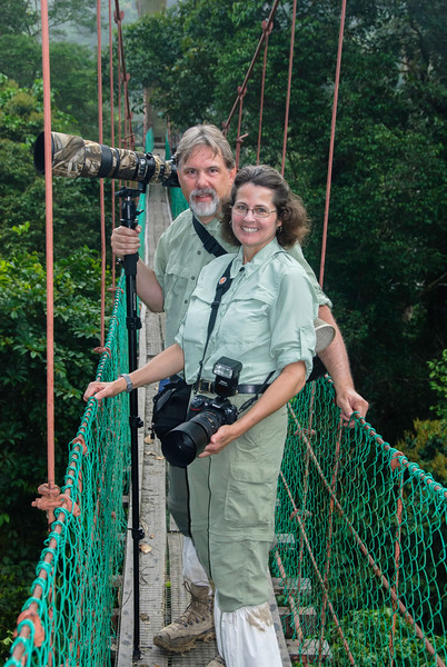 Kathy and Me in the Forest Canopy