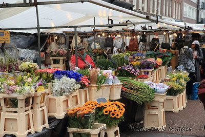 Beautiful flowers at the open-air market - Amsterdam, The Netherlands