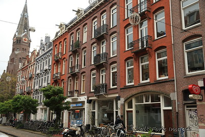 Typical residential buildings - Amsterdam, The Netherlands