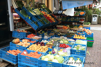 Amsterdam, The Netherlands - Fresh fruits and vegetables at the open-air market