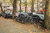 Amsterdam, The Netherlands - the most dangerous part of sightseeing in Amsterdam - bicycles