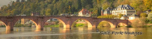 The Old Bridge over the Neckar River in Heidelberg, Germany