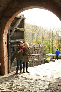 Marla and Jocelyn at Marksburg Castle